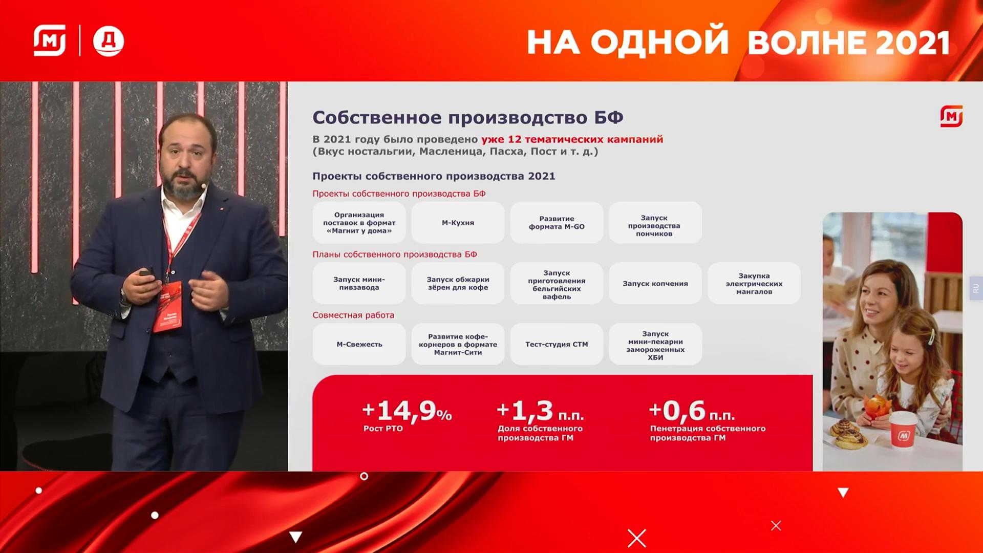 Директор розничной сети «Магнит» Руслан Исмаилов и собственное производство