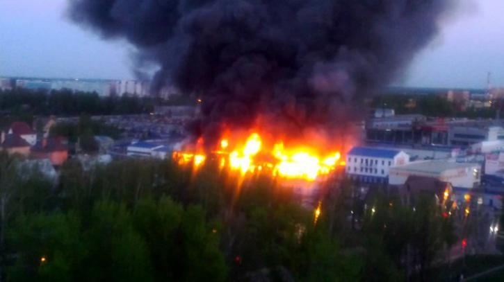 ВПодмосковье зажегся торговый центр