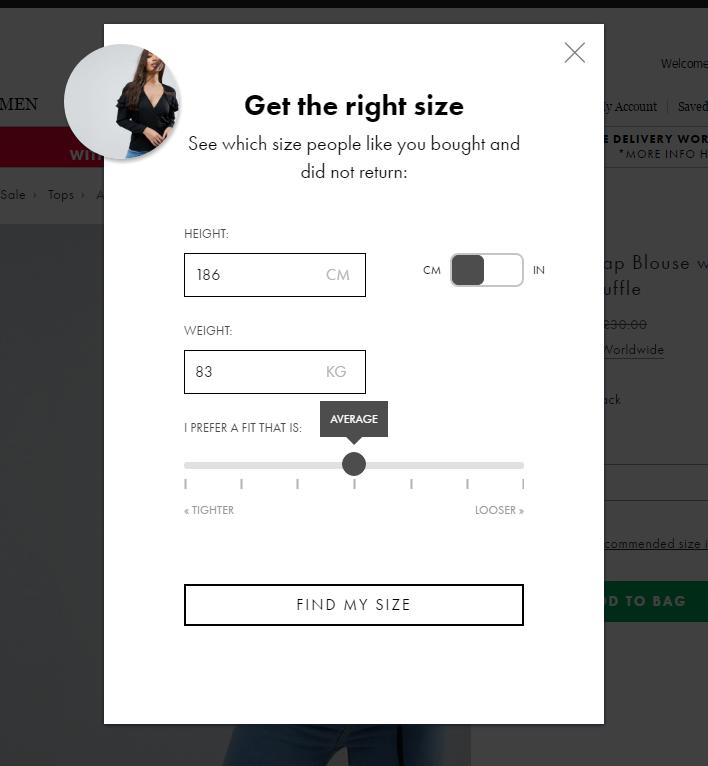 Помогайте подобрать одежду по размеру