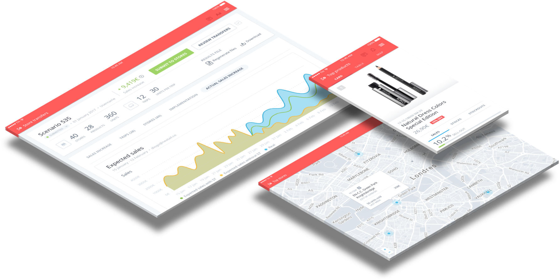 Работать с Nextail можно в облачной платформе, на планшете и в мобильном приложении
