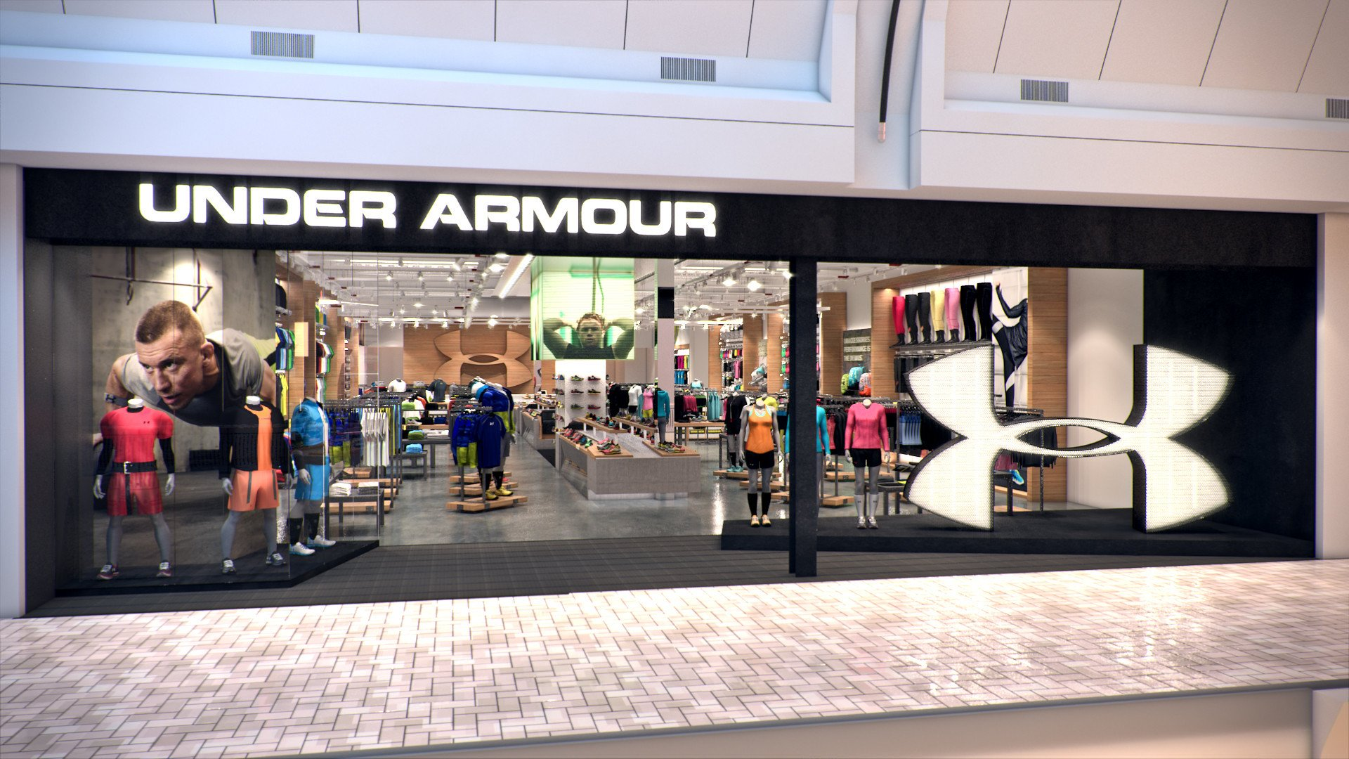 772e9b989bb Under Armour открывает свой первый магазин