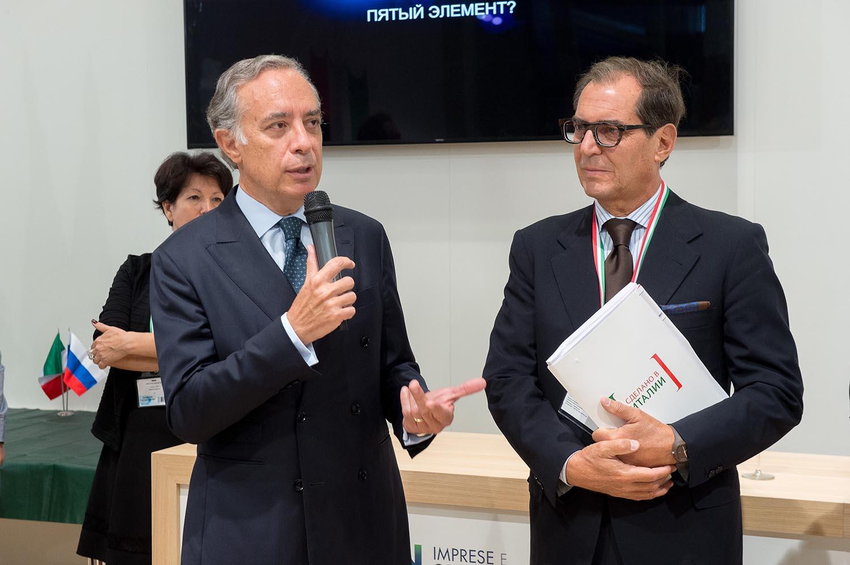 Слева Паскуале Терраччано, посол Италии в России; Справа Пьер Паоло Челесте, директор Агентства ИЧЕ
