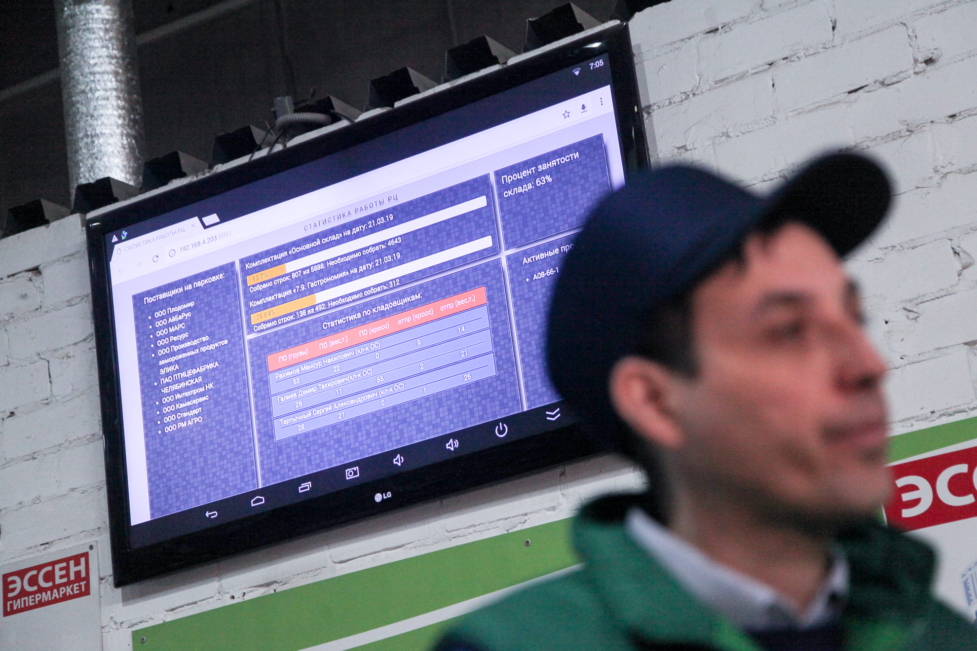 Экран системы визуализации