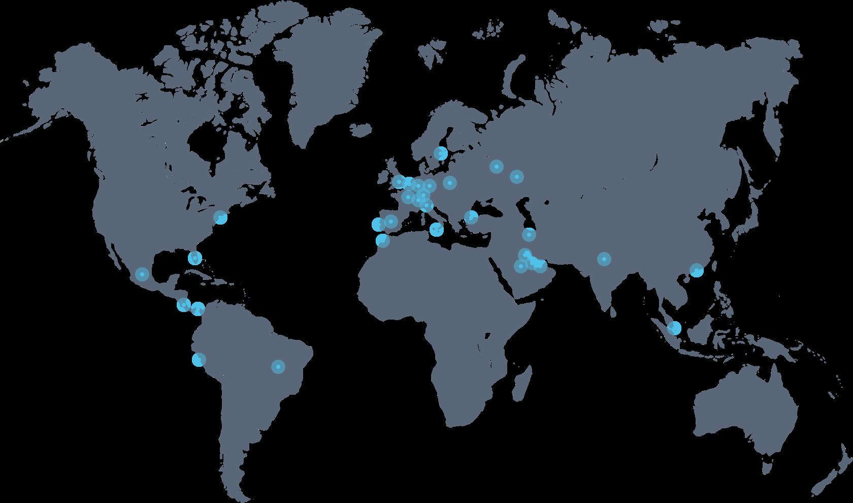 Nextail на карте мира